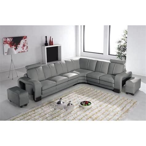 canapé d angle avec relax canapé d 39 angle en cuir gris avec appuie tête relax havane