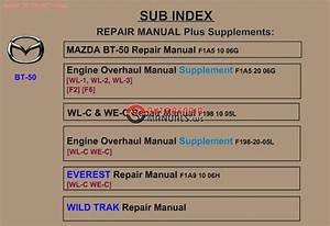 Mazda Bt-50 2009 Workshop Repair Manual