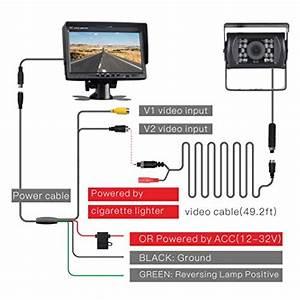 Toguard Backup Camera Kit  7 U0026 39  U0026 39  Lcd Rear View Monitor With
