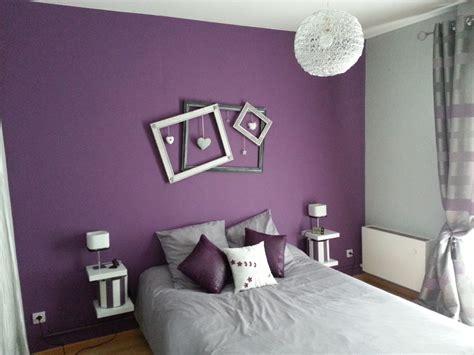 chambre grise et prune deco chambre prune et gris