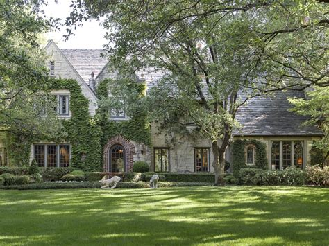 an manor in an highland park setting