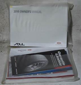 Kia Soul 2016 Factory Original Oem Owner Manual User