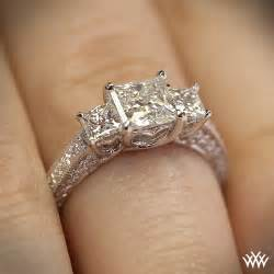 engagement rings 3 3 coeur de clara engagement ring for princess cut diamonds 1772
