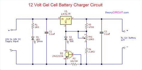 Volt Gel Cell Battery Charger Circuit