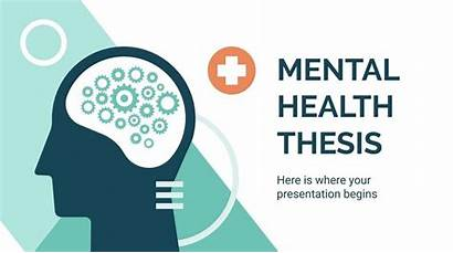 Template Mental Powerpoint Health Presentation Thesis Templates