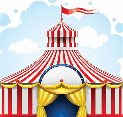 Circus Tent Carnival Clip Clipart Background Backdrop