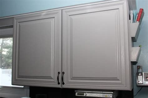 cabinet  behr cathedral gray  darker sample paint