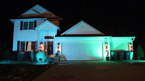 led rgb christmas flood lights youtube
