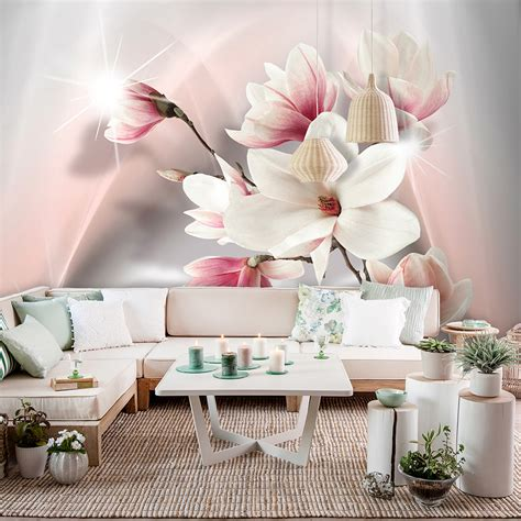 vlies fototapete blumen rosa lilia orchidee natur