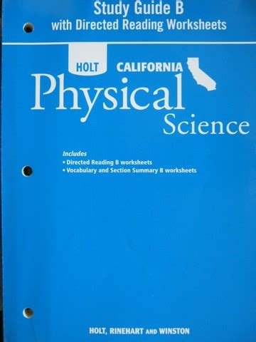 physical science holt worksheet answers physical best
