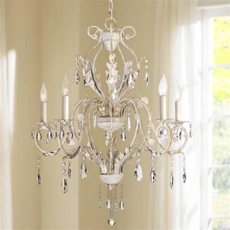 Kathy Ireland Devon 5 Light Antique White Crystal