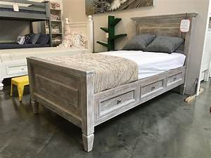 Porter Rustic Panel Bed WDrawers Kids Furniture In Los