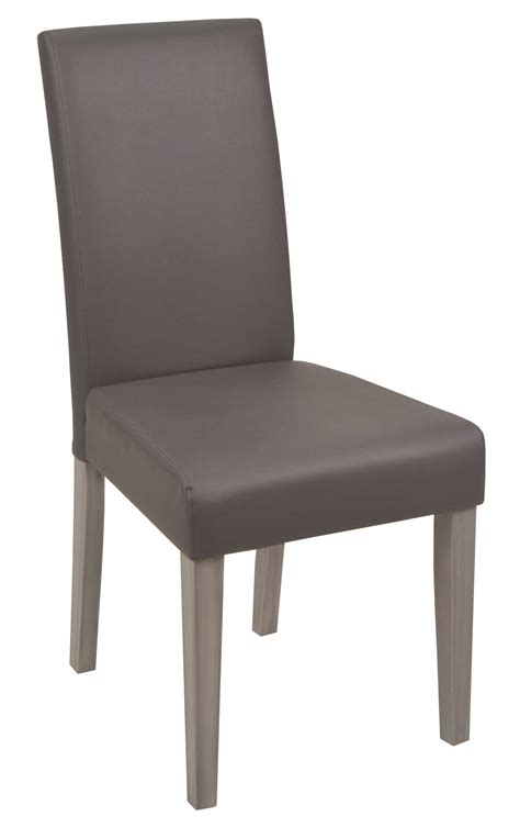 chaise a chaise de salle à manger contemporaine coloris gris lot