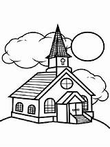 Church Pages Printable Coloring Clouds Country Sheet Sheets Children Buildings Places Template Confusing Templates Crafts Printablee sketch template