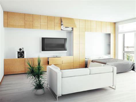 schrankwand mit klappbett stauraum im wohnzimmer kreative tipps f 252 r mehr ordnung bei wandtattoo de