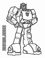 Transformers Coloring Bumblebee Amazing Pages Print sketch template