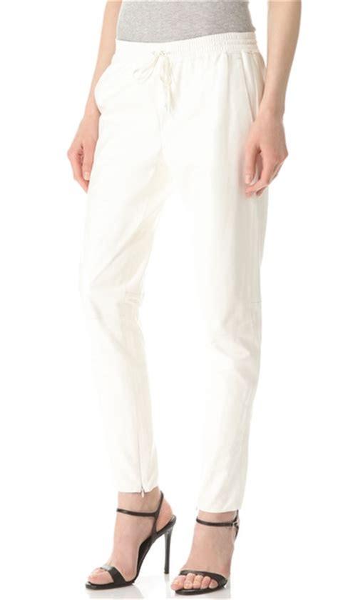 womens white jogger pants wardrobe mag