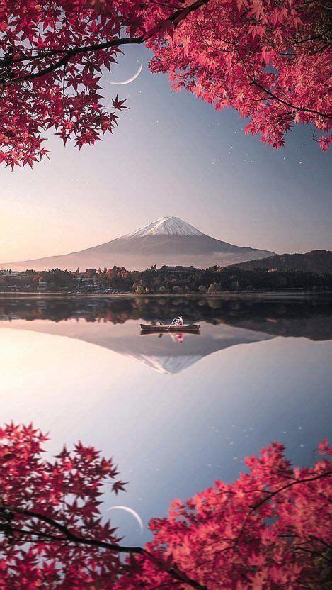 japan mount fuji nature iphone wallpaper lawnillustration