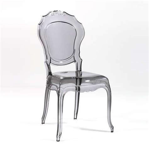 chaise en polycarbonate chaise design en polycarbonate style régence époque