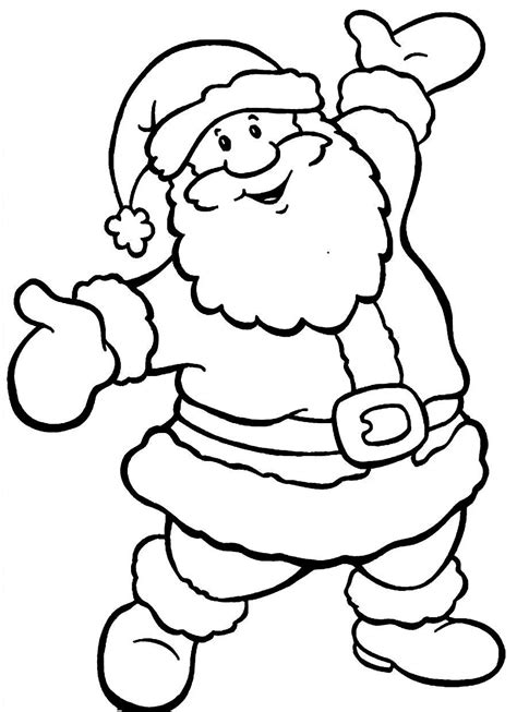 santa claus coloring pages free merry