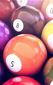 Pool Colorful Balls Numbers Android Wallpaper free download