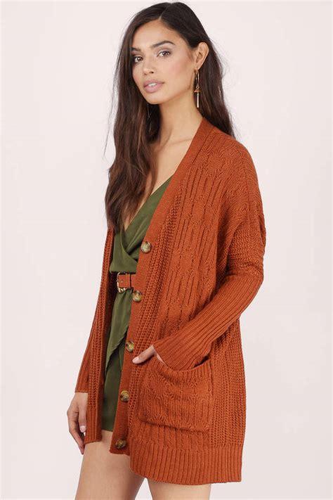 red orange cardigan outdoor jacket