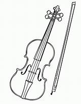 Coloring Fiddle Pages Cat Violin Popular sketch template
