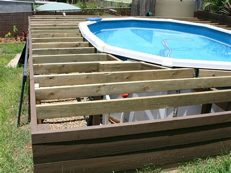 timber deck   ground pool ms builders