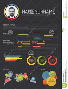 Work Experience In Resume Original Cv Resume Template Stock Vector Image 53068132