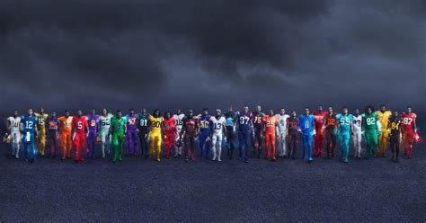 nfl team    color rush uniform  year