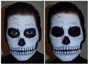 Halloween Skull Face Paint Makeup Tutorial