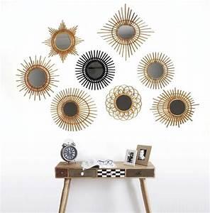 Miroir Rotin Noir : miroir d co vintage rotin noir ~ Melissatoandfro.com Idées de Décoration