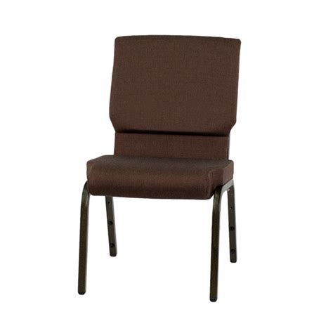 hercules series 18 5 w stacking church chair in brown