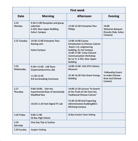 trip scheduler templates 7 travel schedule template pdf word free premium