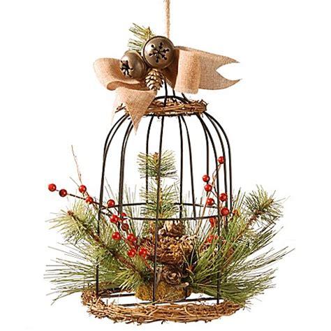 christmas bird cage decoration bed bath