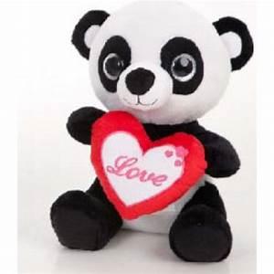 Grosse Peluche Panda : peluche panda roux avec coeur 20 cm barrado mynoors ~ Teatrodelosmanantiales.com Idées de Décoration