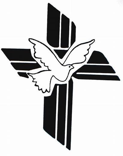 Baptism Catholic Clip Cross Clipart Dove Clipartmag