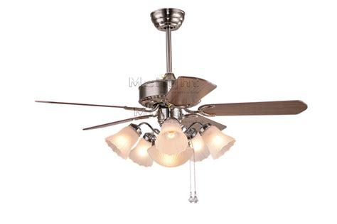 decorative vintage ceiling fans with 6 light kits for