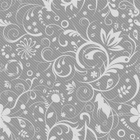 gray and white rugs floral pattern on gray background