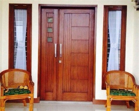 model daun pintu kupu tarung kayu jati minimalis