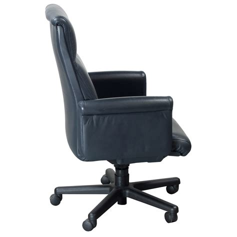 steelcase theorem used midback leather executive chair