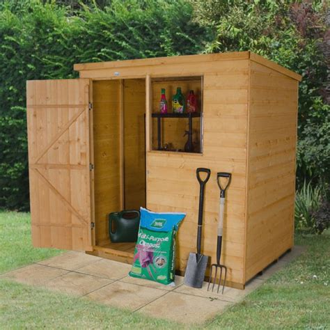 Small Sheds B Q by 6x4 Pent Shiplap Wooden Shed Departments Diy At B Q