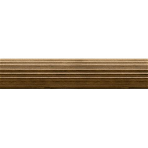 shop allen roth tobacco wood single curtain rod at lowes