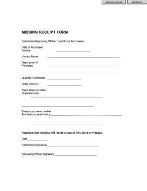official receipt form templates fillable printable