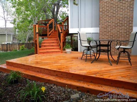 wood decks colorado deck and framing