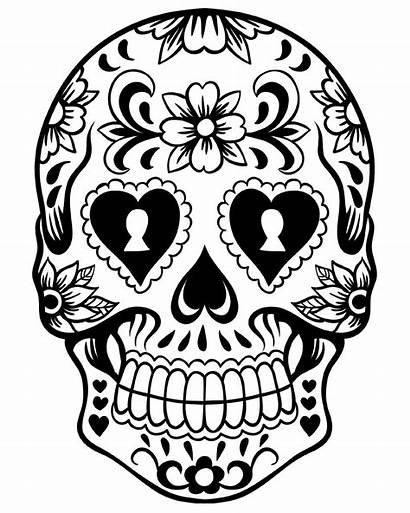 Dead Coloring Skull Pages Printable