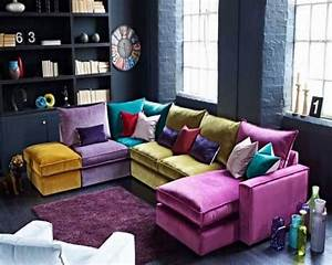 10 cheerful interior design ideas with colorful sofa With colorful sofa bed
