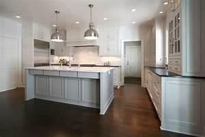 Walker Woodworking - kitchens - hardwood floors, dark