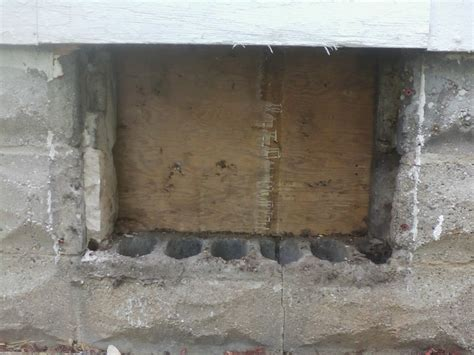 Framing A New Basement Window In Cinder Block Home New
