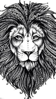 mandala art lion coloring book  adults mandalas